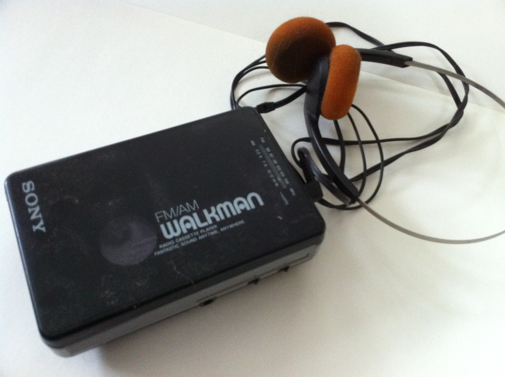 An Original Walkman. Gosh I love my iPhone.