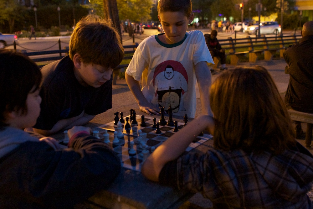 Will played chess with a stranger in Dupont Circle. The other boy was very experienced!
