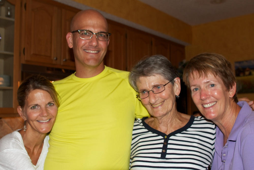 Rhonda, Me, Mom, Carol -- I'm tall.